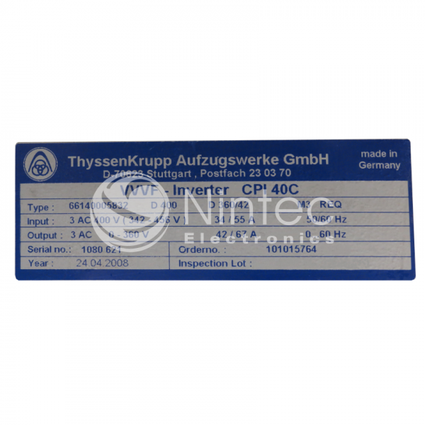 Reparar CPI40 C Thyssen variador