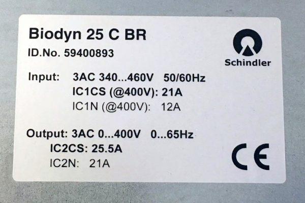 Réparer Biodyn 25CBR Schindler Variateur