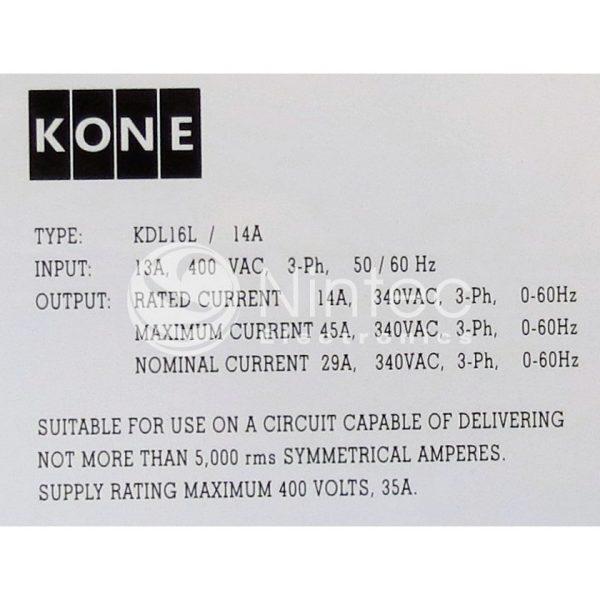 Reparar KDL16L 14A Kone variador