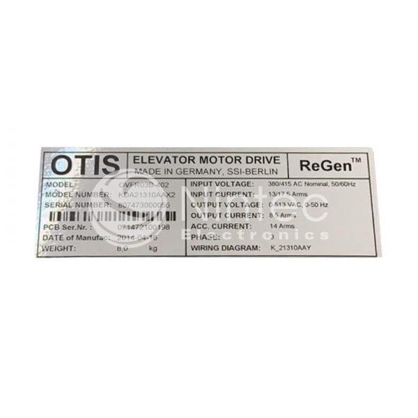 Reparar OVFR03B-402 ReGen Otis Variador