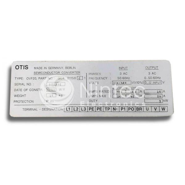 Reparar OVF20 9kW GCA21150CL1 OTIS Variador